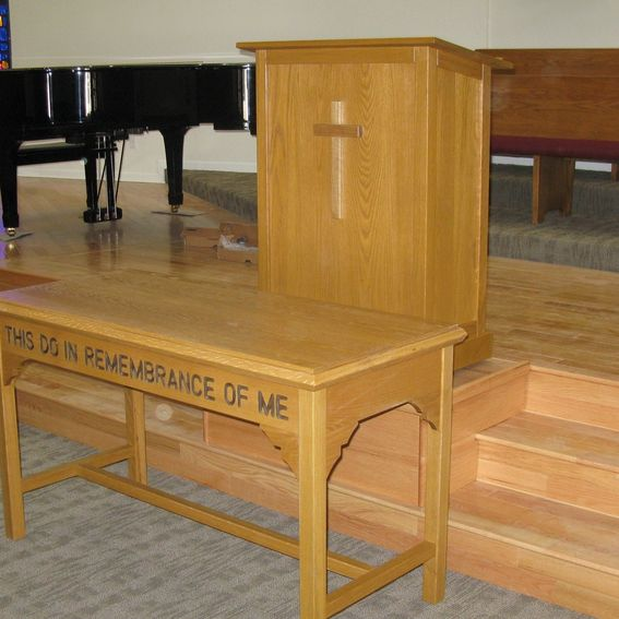 Handmade A Church Communion Table And Pulpit By Tom's