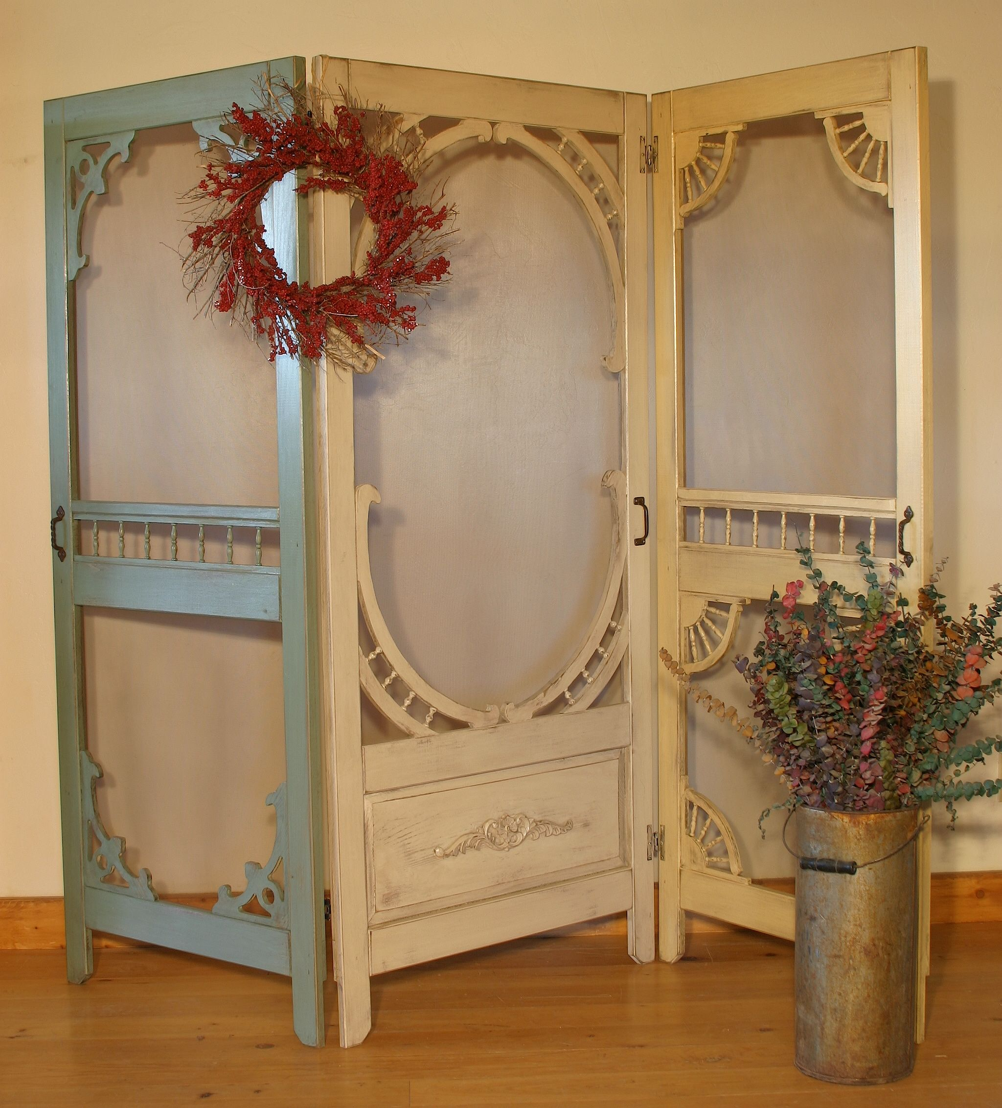 Hand made denise 39 s screen door room divider by country - Room divider doors ...