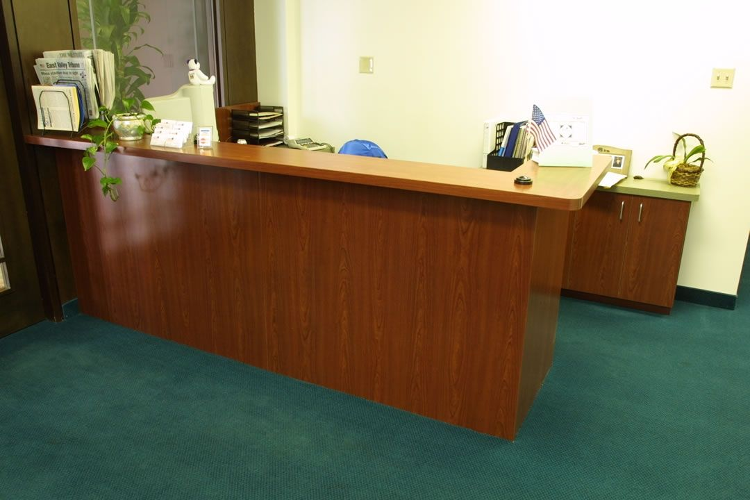 Hand Made Reception Desks By Custom Design Wood Products
