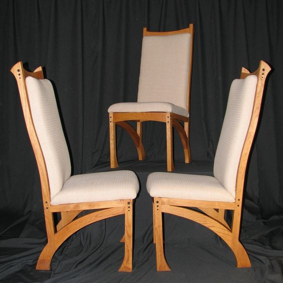 Unique Upholstered Chairs: Custom Made Upholstered Dining Chairs By Bearkat Wood