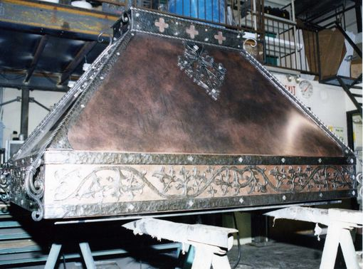 Custom Made Metal Range Hoods In Kitchens