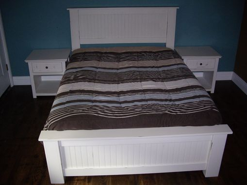 Custom Made Carolina Style Bed And Night Tables
