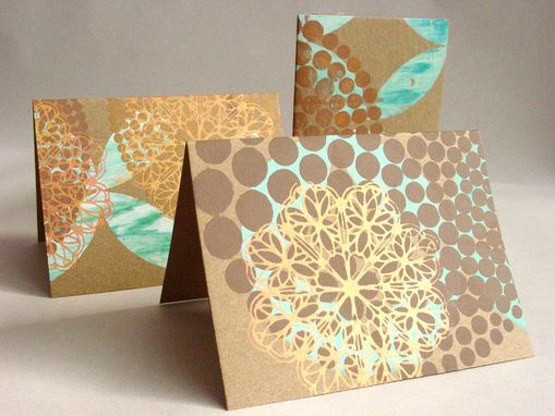 Custom Made Original Design, Individually Hand Screen Printed Cards And Paper Products