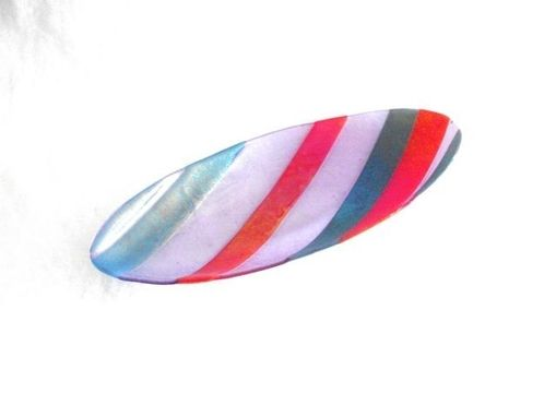 Custom Made Iridescent Stripped Oval Platter