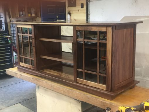 Custom Made Walnut Entertainment Center