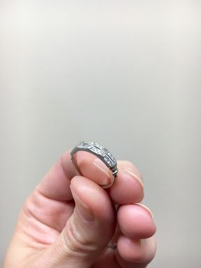 Custom Made Vintage Style Diamond Band