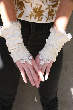 Custom Made Wedding Accessories,Up-Cycled Vintage Kid Gloves, Wedding Accessory Gloves