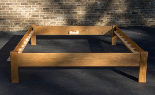 simple queen size platform bed frame hardwoods ash oak maple ambrosia maple cherry or walnut - Maple Bed Frame