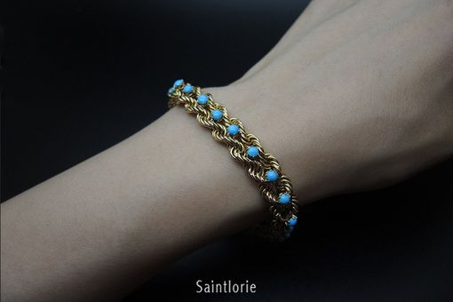 Custom Made Turquoise Bracelet