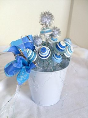 Custom Made Winter Snow Buttons Holiday Decoration