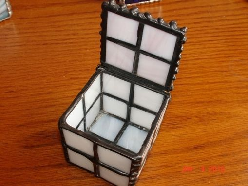 Custom Made Cube Box In Stained Glass