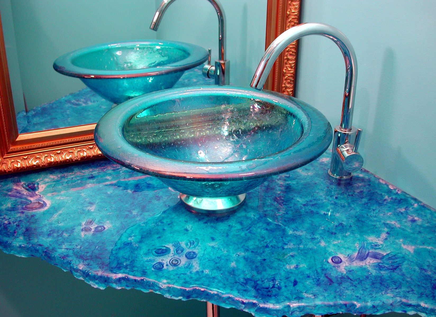 Bathroom Sinks Jamaica buy a hand crafted jamaica blue sink and cast cane counter, made