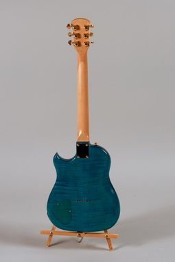 Custom Made Blue Tiger-Maple Lincsonic Electric Guitar