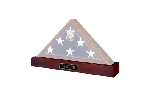 Custom Made Military Flag And Medal Display Case Shadow Box
