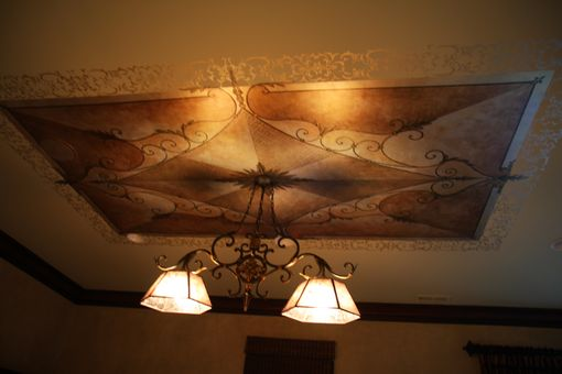 Custom Made Custom Cieling Design Based On Clients Fabrics And Light Fixture
