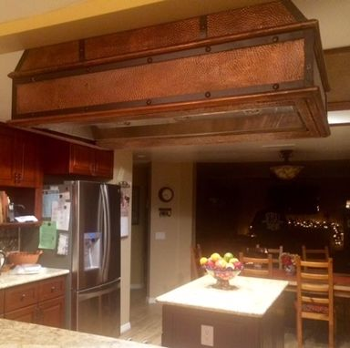 Custom Made Distressed Copper Range Hood