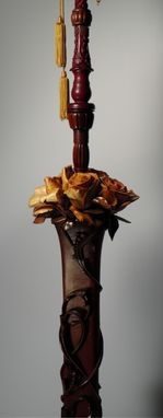 Custom Made Rosewood Floor Lamp
