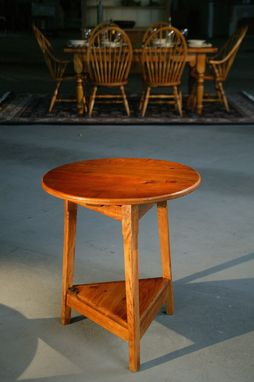 Custom Made End Table With Fruitwood Finish