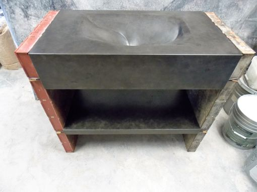 Custom Made Concrete And Filler-Form Modular Vanity With Integral Sink