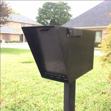 Custom Made The Sez Industrial Custom Metal Mailbox Mid Century Modern