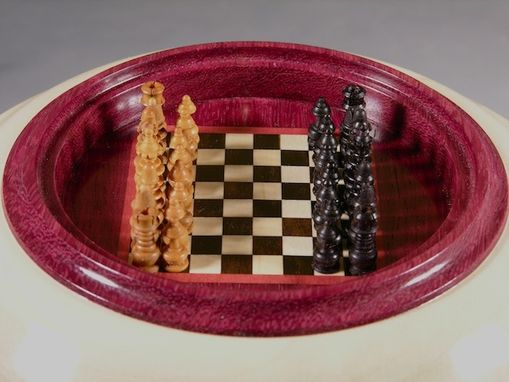 Custom Made Miniature Chess Game & Vessel