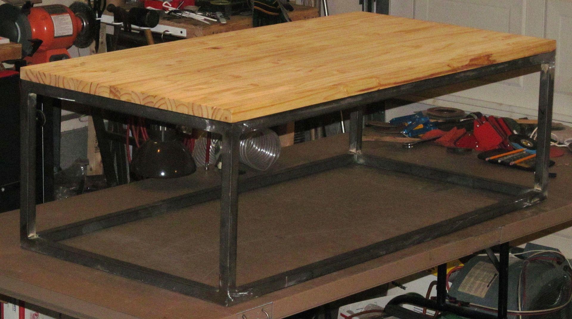 Custom Made Modern Industrial Coffee Table by Bama Metal Fab