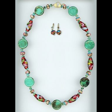Custom Made Magda Rakosi Turquoise & Glass Set