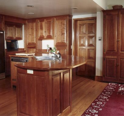 Custom Made Cherry Kitchen With Solid Wood Tops