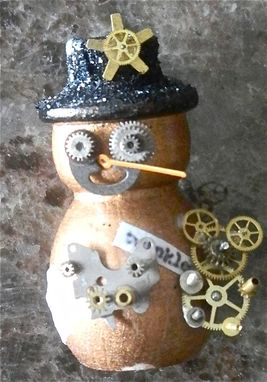 Custom Made Steampunk Snowmen