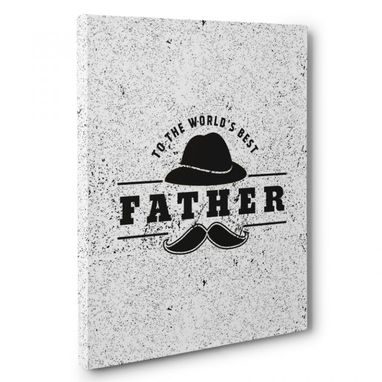 Custom Made World'S Best Father Canvas Wall Art