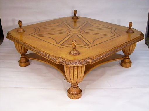 Custom Made Custom French Styled Oak Coffee Table
