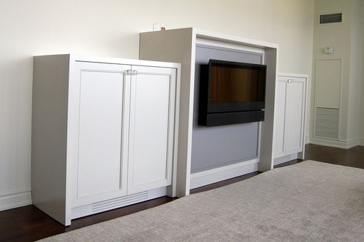 Custom Made Fireplace Surround / Storage Cabinets