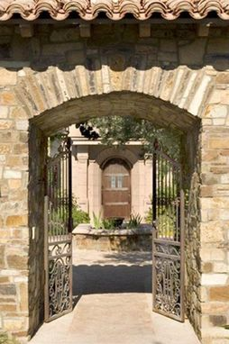 Custom Made Wrought Iron Entry Gate (15th Century Italian Design)