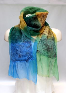 Custom Made Colorful Nuno Felt Scarf