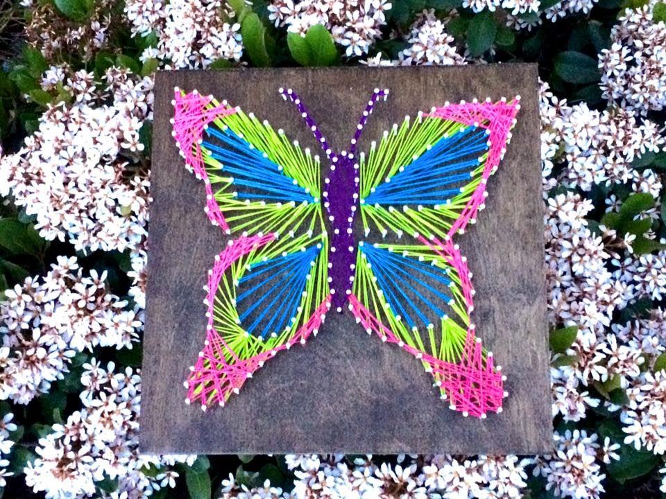 5ff849f8f4d Buy a Handmade Butterfly String Art
