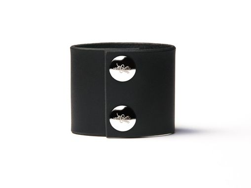 Custom Made Leather Cuff - Black Latigo