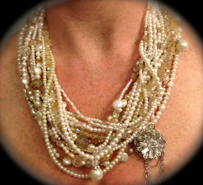 Custom Made Multi-Strand Bridal Necklace