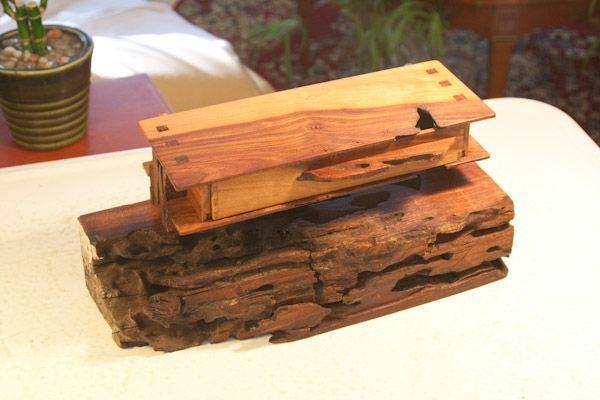 Custom Made Organic And Natural Edge Wild Cherry Wood Box