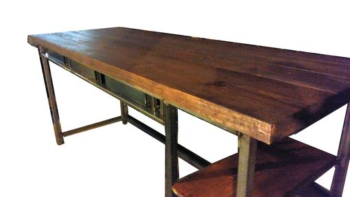Custom Made Vintage Industrial Style Desk W/ Drawers