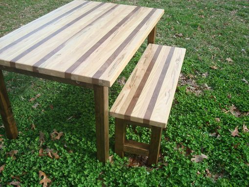 Custom Made Walnut Oak Wormy Maple And Cherry Butcherblock Dining Table