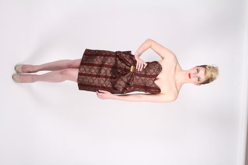 Custom Made Brown Bow Dress
