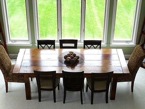 Custom Made Reclaimed Dining Table With Extendable Leaves