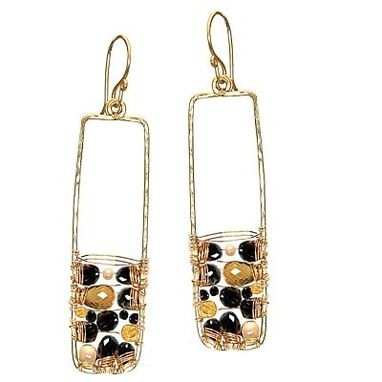 Custom Made Black And Pearl Earrings