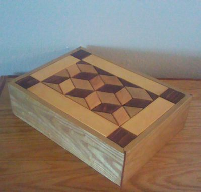 Custom Made Keepsake Box W/ 3d Pattern
