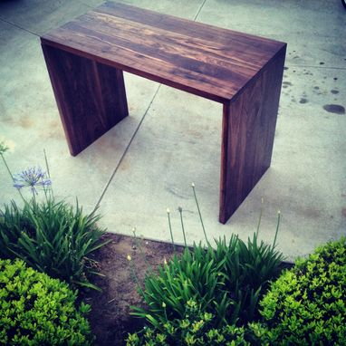 Custom Made Walnut Waterfall Pub Style Dinning Table