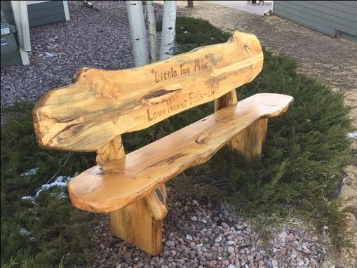 Custom Made Live Edge Bench - Slab Style / Reclaimed Wood From Forest Fire