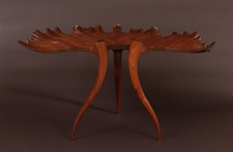 Custom Made Vivaldi Leaf Hall Table. See Www.Marklevin.Com For Current Price And More Information.