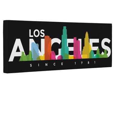 Custom Made Los Angeles Skyline Canvas Wall Art