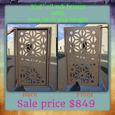 Custom Made Contemporary Metal Gate Modern Urban Pedestrian Walk Iron Art Garden Gate