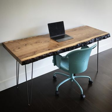 Custom Made Elm Live Edge Desk